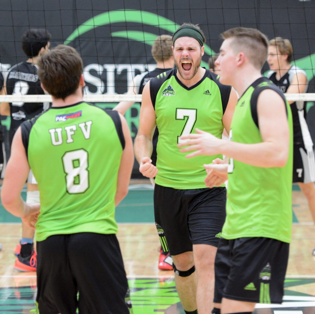 Dayton Pagliericci (7) and the Cascades men's volleyball program are holding open tryouts on Wednesday.