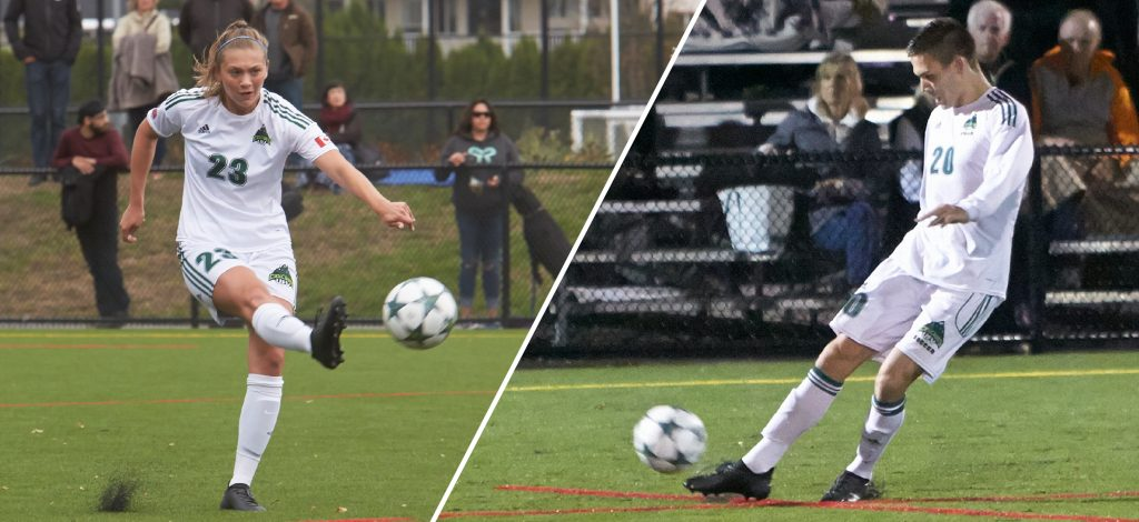 Desiree Caruso, Tammer Byrne and the Cascades women's and men's soccer teams will be going their separate ways this weekend on road trips.