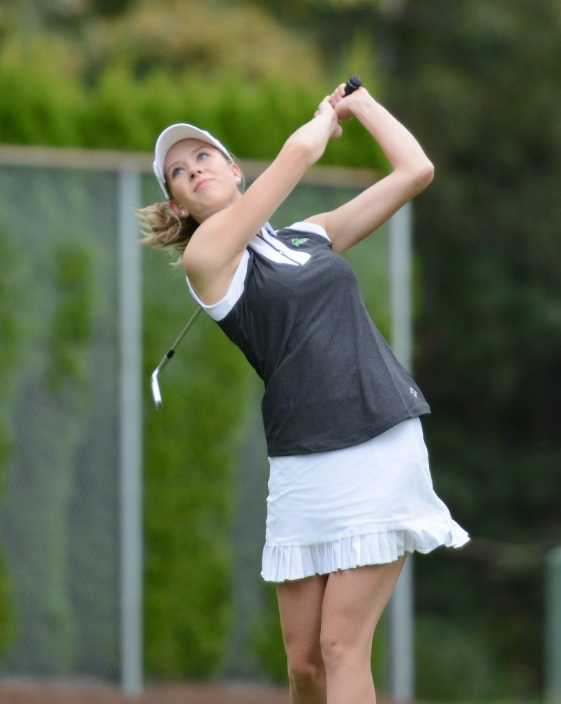 Jennifer Kell of the Cascades earned a one-stroke victory at the UBC Okanagan Invitational on the weekend.