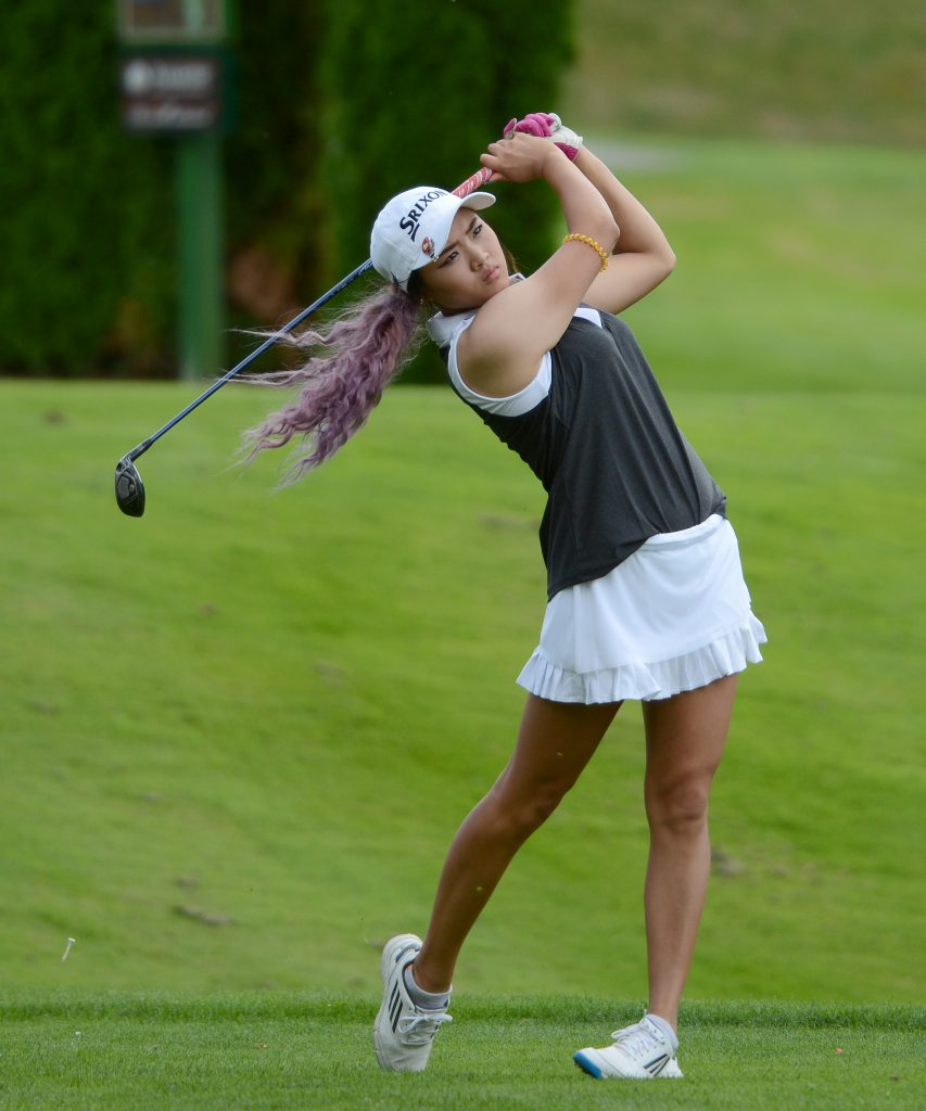 First-year Cascade Sharon Park got off to a solid start in Round 1 of the UFV Invitational.