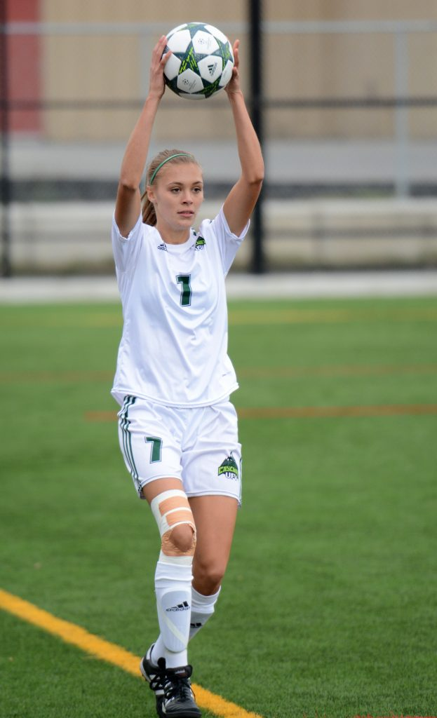 Kara Delwo returned to the Cascades lineup after missing the 2015 season rehabbing from a knee injury.