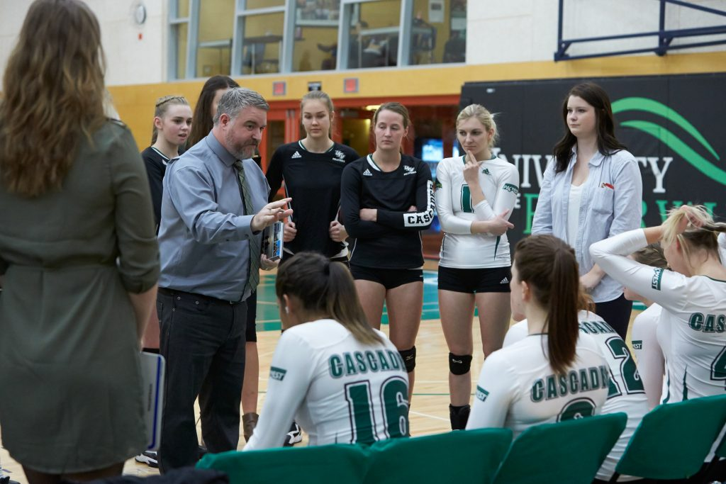 The UFV women's volleyball team came out on the wrong end of a weekend sweep vs. VIU in Nanaimo. (Tree Frog Imaging file photo)
