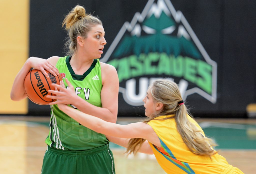 Kayli Sartori poured in a game-high 20 points against Ryerson in exhibition action on Saturday morning. (UFV Cascades file photo)