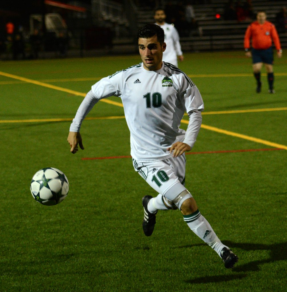 Michael Mobilio and the Cascades host the UVic Vikes on Saturday.