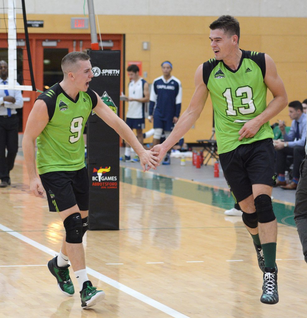 Adam Frederickson and Joel Kleingeltink had reason to celebrate on Friday, as they picked up their third straight win. (UFV Cascades file photo)