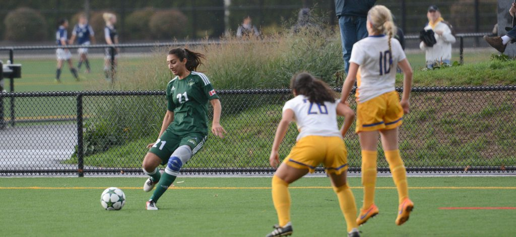 Fifth-year midfielder Sunayna Samra and the Cascades are taking on a pair of traditional powerhouses on the road.