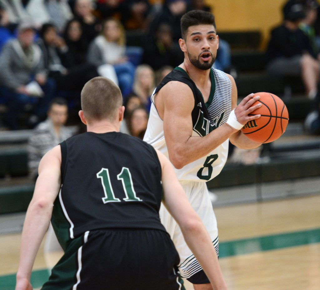 Nav Bains racked up 16 rebounds to go with eight points and six assists in Friday's win over Sask.