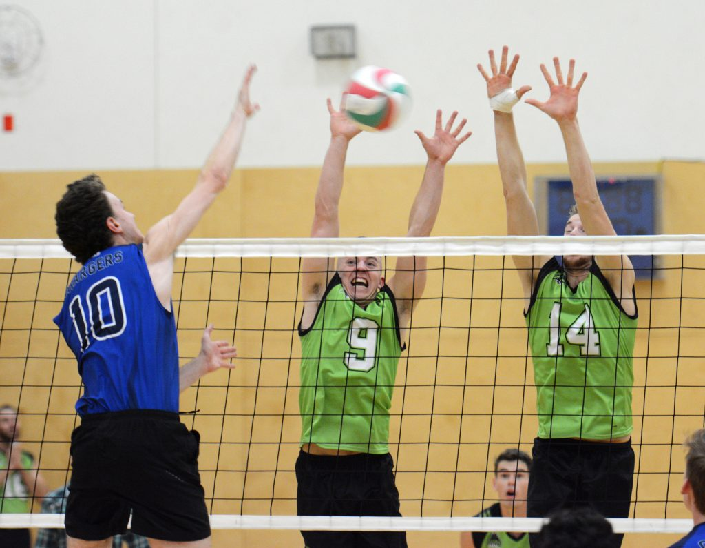 Adam Frederickson and Connor Pruim both notched three blocks in the Cascades' win over Camosun.