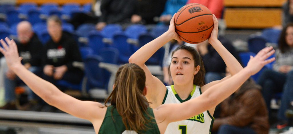 Rookie forward Jessica Zawada and the Cascades women's hoopsters visit the Brandon Bobcats this weekend.