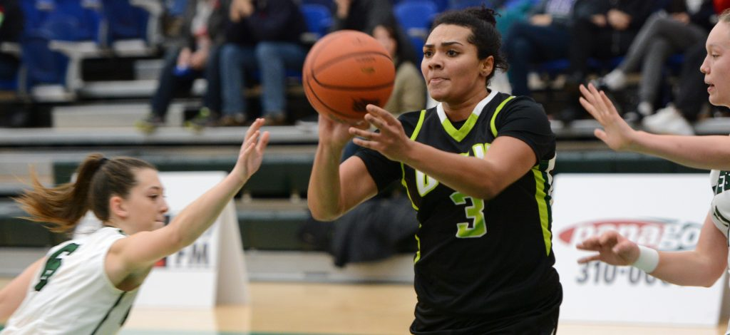 Shayna Litman and the Cascades dropped the first game of a two-game weekend set in Brandon. (UFV Athletics file photo)