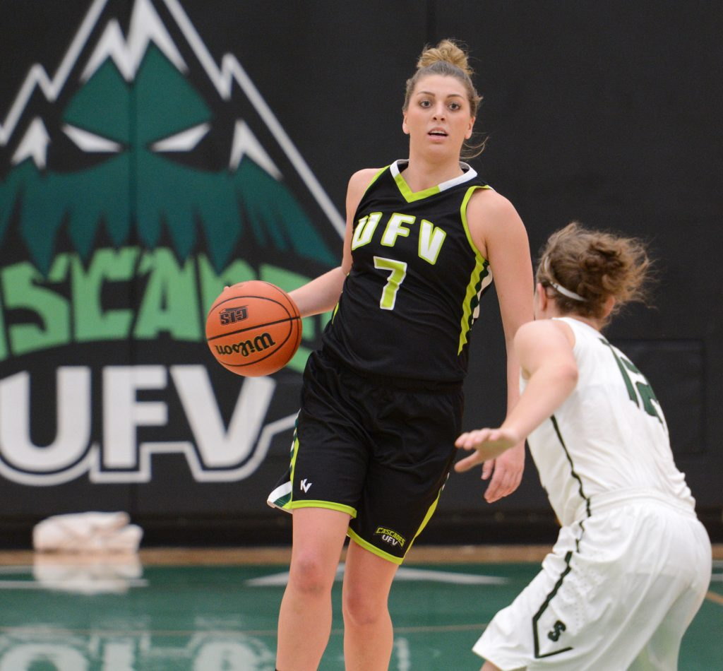 Kayli Sartori poured in a season-high 29 points, including the last four points of the game at the free throw line. (UFV Cascades file photo)