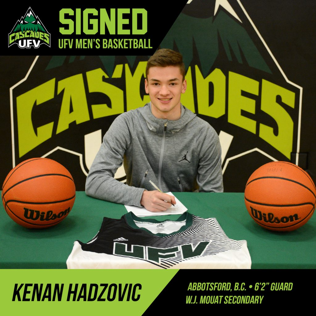 Hoops standout Hadzovic signs with hometown Cascades | UFV ...